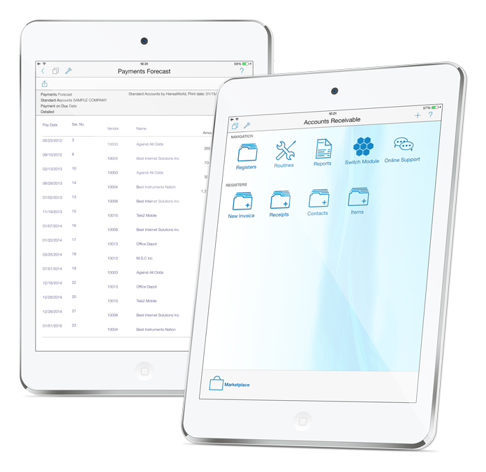 Invoicing - Manage your sales and purchase invoices and associated payments with ease.